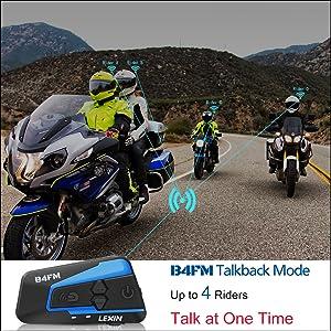 LEXIN B4FM Motorbike Intercom