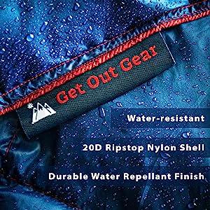 water resistant waterproof blanket DWR repellant