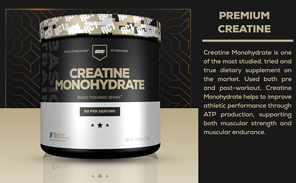 Amazon.com: Redcon1 - Creatine Monohydrate - 60 Servings, 5G, Muscle Recovery, Athletic Performance: Health & Personal Care