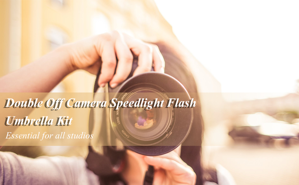 Double Off Camera Speedlight Flash Umbrella Kit