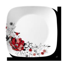 Amazon Com Corelle Boutique Square Chelsea Rose 16 Piece Chip Resistant Dinnerware Set Service For 4 Dinnerware Sets