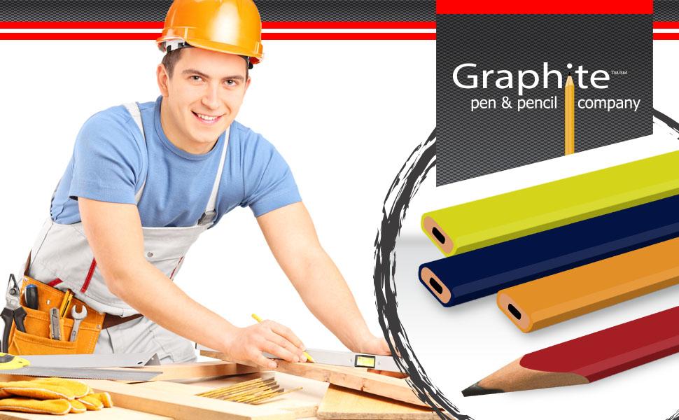 Carpenter woodwork graphite pencils
