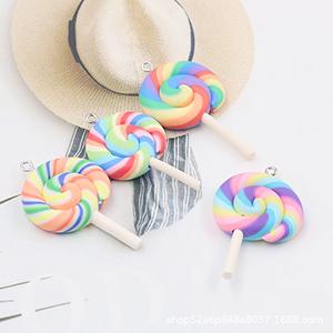 Charms for Mobile Phone Keyrings Bags Rainbow Lollipop
