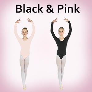 leotard ballet girls cotton sleeves pink danzcue danzia