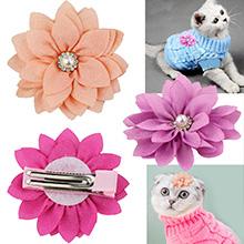 Elegant Fabric Flower Clip Decor