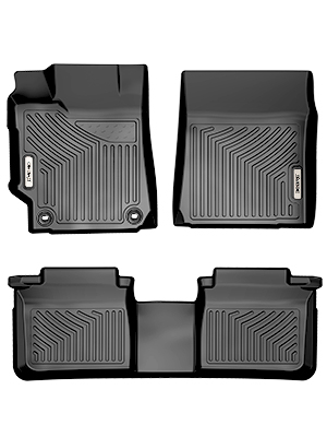oEdRo Floor Mats Compatible with 2015-2017 Toyota Camry Standard Models