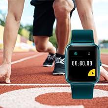 YAMAY Smartwatch Orologio Fitness Uomo Donna Smart Watch Fitness Tracker Cardiofrequenzimetro da Polso Contapassi Orologio Sportivo Impermeabile IP68 Cronometri GPS Condiviso Smartband per Android iOS