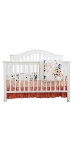 3 Pieces of Crib Bedding Set - Feather Floral