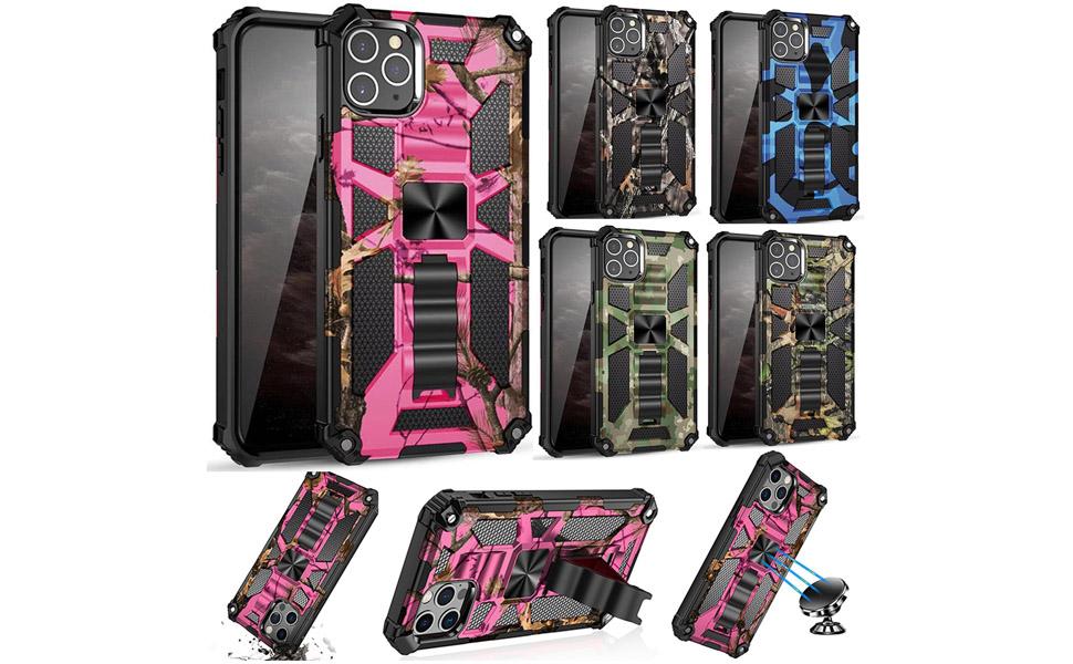 hunter camouflages design hybrid cover case pink como defender cover