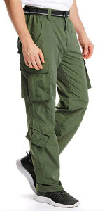 Men's Outdoor Casual Quick Drying Hiking Cargo Pants with Pockets