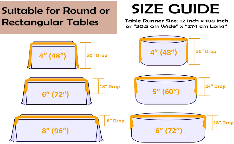 Suitable for Round and Rectangular Tables