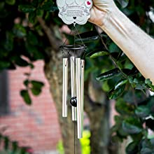 in door and outdoor pet windchime, pet grave site wind chime, pet memorial marker