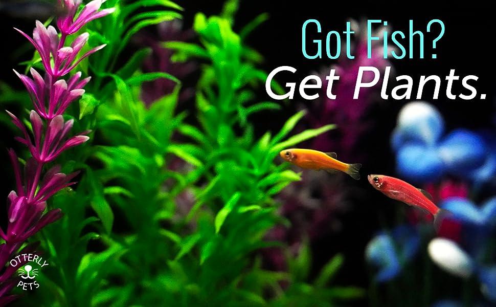 Otterly Pets Aquarium Plastic Plants for Fish Tank