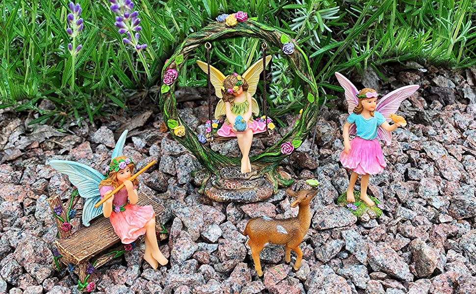 Fairy garden House set Miniature Figurines Kit Accessories Gnome Mood Lab