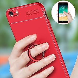 SORAKA Cover iPhone 5/5S/SE con Supporto dell'anello,Compatibile con Supporto Auto Smartphone Magnetico