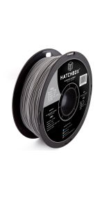 abs gray 1.75mm 3d printer filament is an easy to use material that is durable & tough