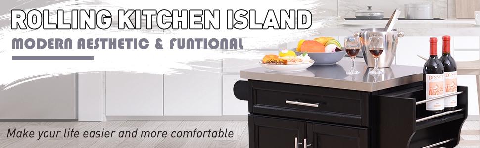 rolling kitchen island