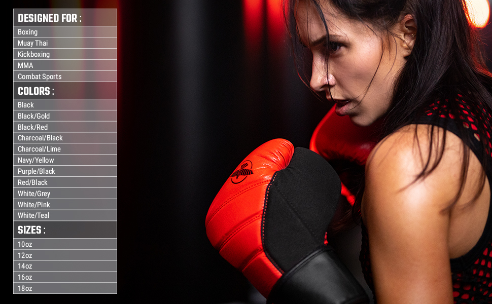 Athlete wearing red black T3 Boxing Gloves in boxing stance