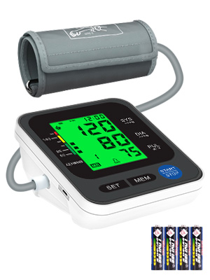 """1  Blood Pressure Monitor for Home Use with Large 3.5"""" LCD Display, Wowgo Digital Upper Arm Automatic Measure Blood Pressure and Heart Rate Pulse with Wide-Range Cuff,Three-Color Backlight Display ea64a29a f9d2 4445 a188 1e90542e386a"""