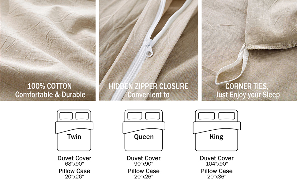 Taupe Comforter Cover Set