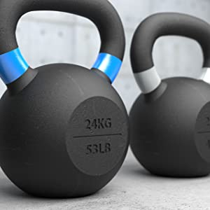 BodyRip 28Kg Cast Iron Kettlebell Exercise Fitness Gym Strength Tone Muscle