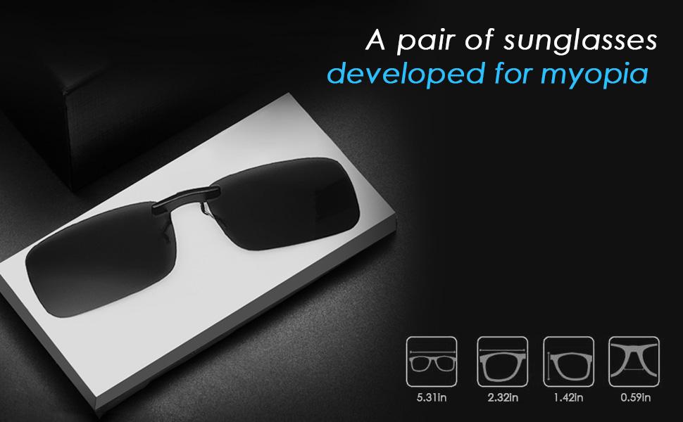 Eyeglasses Prescriptionmyopia Outdoordriving On For Sunglasses Clip Polarized hxtrCBQsd