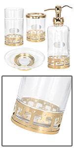 Gold Glass Bath Accessories