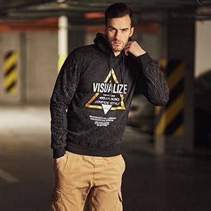 Bolf - Camiseta de manga larga para hombre