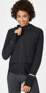 fast track womens running jacket black