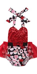 Red valentine's bodysuit