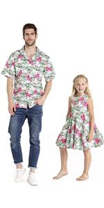 Hawaii Hangover Father Daughter Matching Set Flamingo