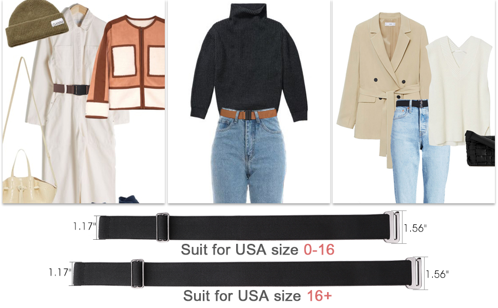 elastic no show belt for women