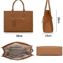 avid Jones Damen-Handtasche aus PU-Leder