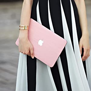 Pink Leather Macbook Case