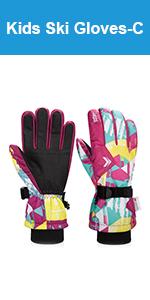 Girls Winter Ski Gloves
