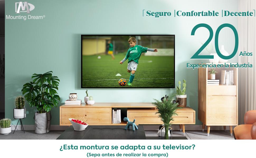Mounting Dream Soporte TV Inclinable Soporte de Pared para la Mayoría 26–55 Pulgadas LED, LCD, OLED y Plasma Televisores de hasta VESA 400x400mm y 40kg, MD2268-MK-02: Amazon.es: Electrónica