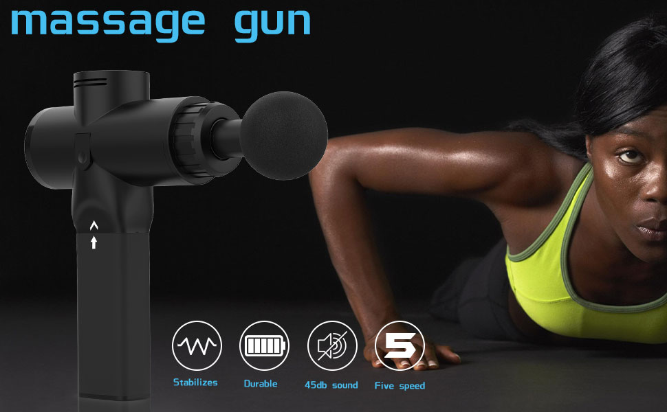 massage gun  OBOR Deep Tissue Massage Gun Electric Full Body Handheld Muscle Percussion Massager 5 Speed Adjustable Quiet & Powerful Device for Personal Health Care ea82ead0 91db 47da 911d 88a782d881a3
