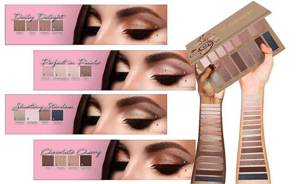 lamora, beauty, makeup, eye, shadow, eyeshadow, palette, pallette, palettes, colors, beautiful