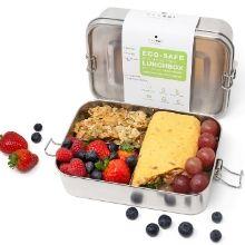 ecozoi leak proof stainless steel metal bento lunch box sustainable green eco zero waste container