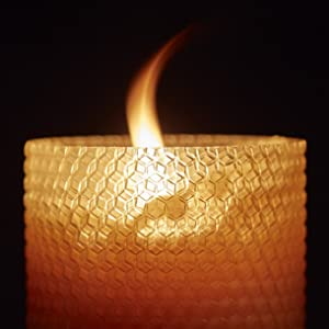 Little Bee of Connecticut Hand Rolled Beeswax Candles Burning Pillar