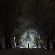 searching at night