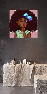 AMEMNY Black Girls Wall Art
