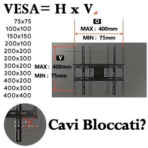supporto TV da parete staffa tv PL2432 Eono Essentials inclinabile e 55 pollice VESA 400x400