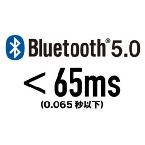 Adopts Bluetooth 5.0 and unique technology to achieve a low latency of 65ns