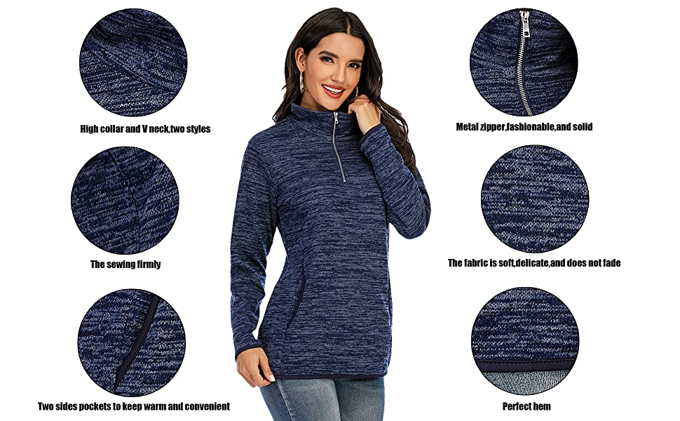 cute tops for women sweatshirts pullover sweatshirt plus size zip soft quarter zip pullover