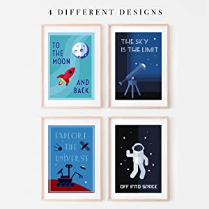 cute inspirational wall art outer space travel canvas wall art science room decor for boys explorer