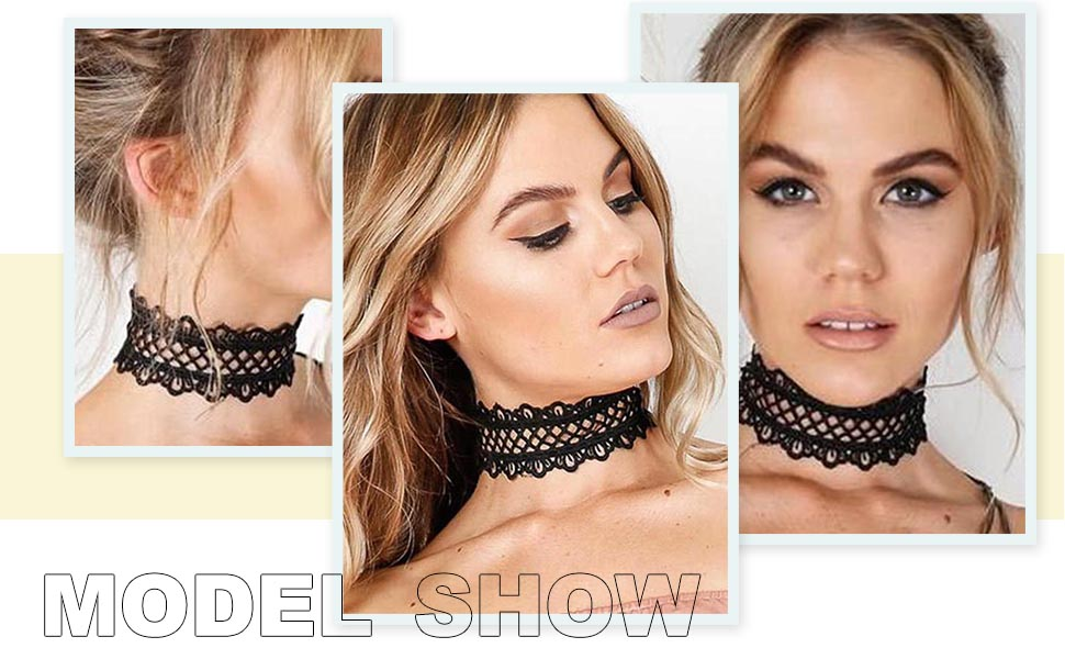 fashion lace necklace chain