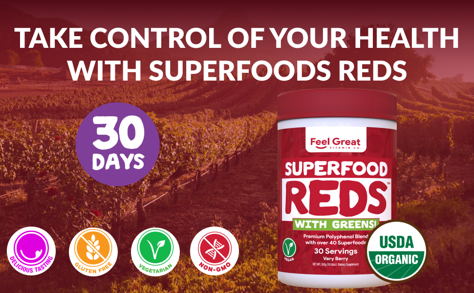Superfood Green and Reds Powder