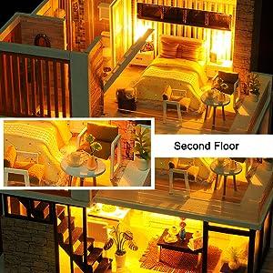 DIY Miniature Dollhouse Wooden Furniture Kit