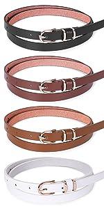 womens black buckle belts